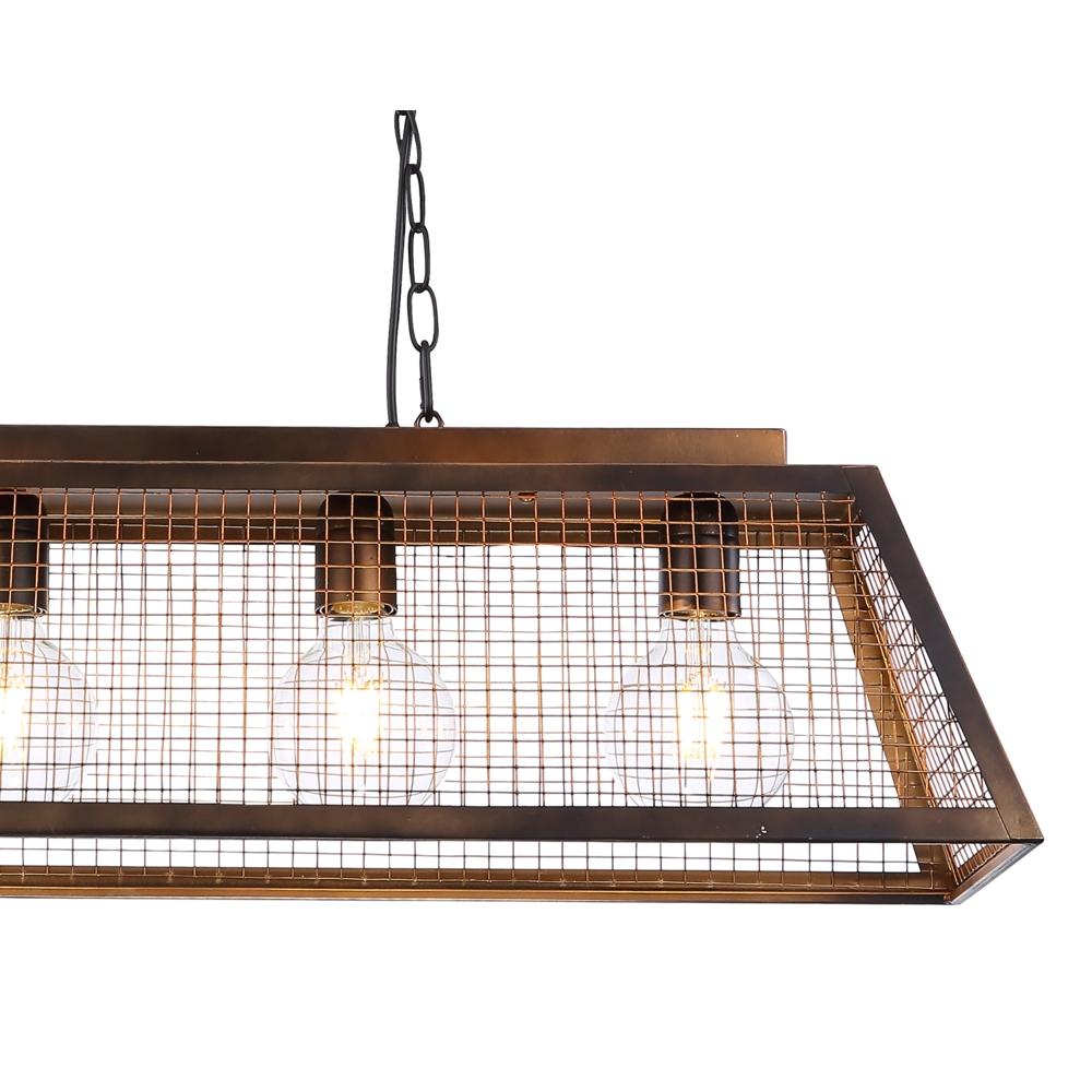 LED hanglamp industrieel 4 x E27 fitting - lampenkap