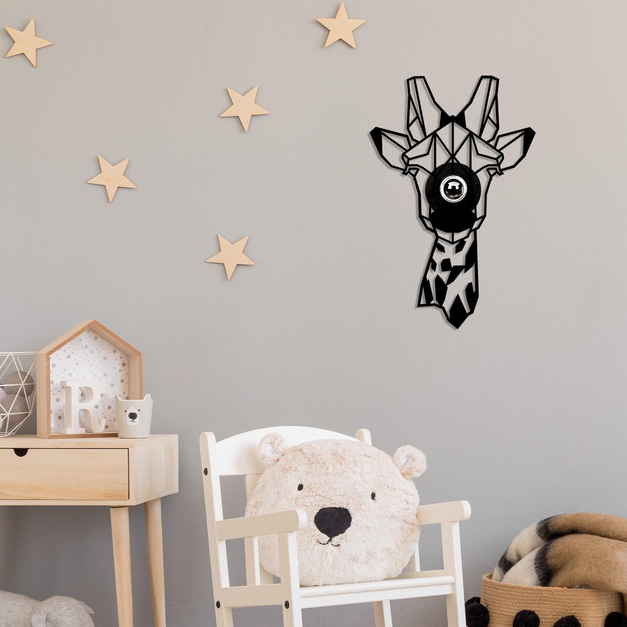 LED industriële wanddeco lamp dieren - Giraf - dimbaar - E27 fitting - sfeerfoto