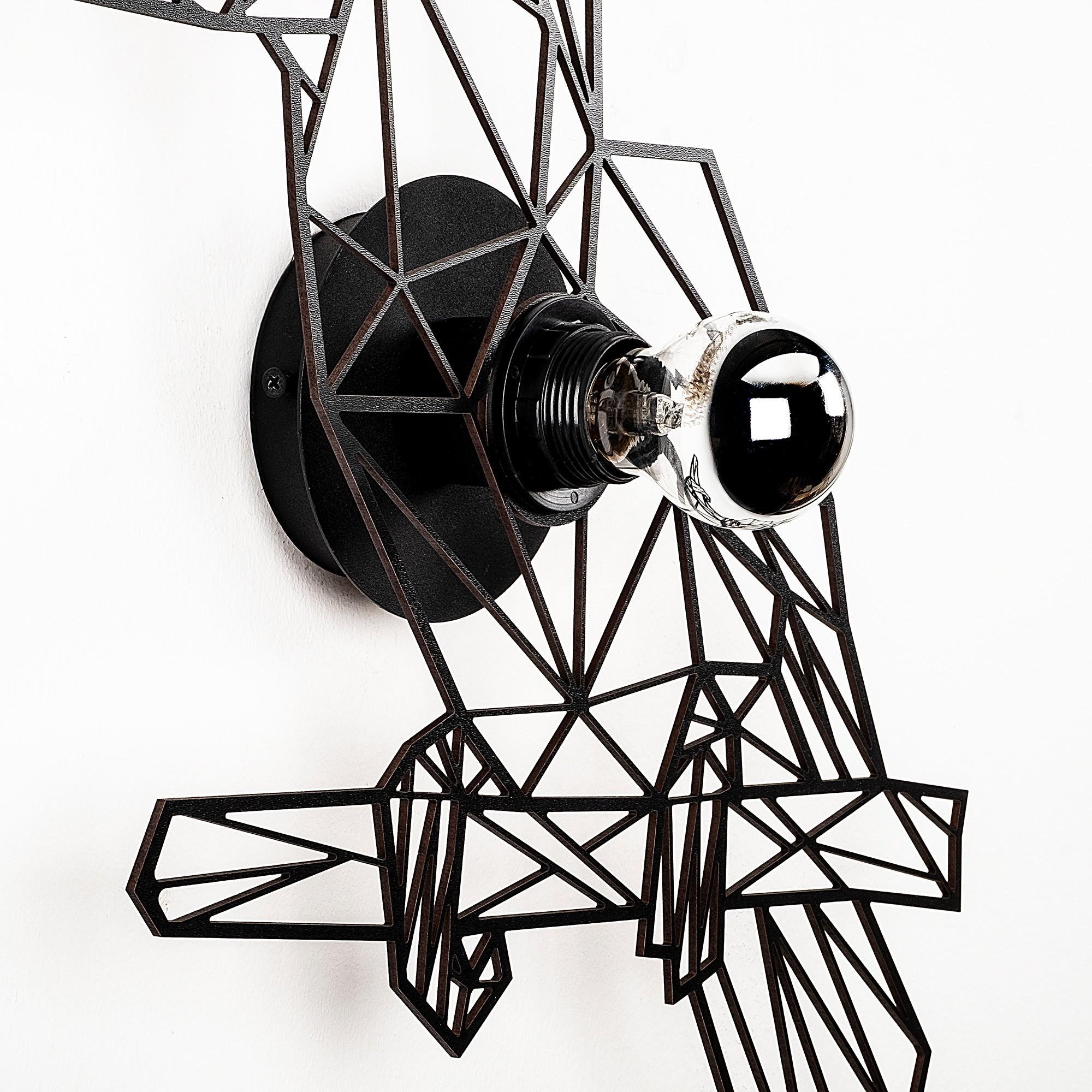 LED industriële wanddeco lamp dieren - Toekan - dimbaar - E27 fitting - close up