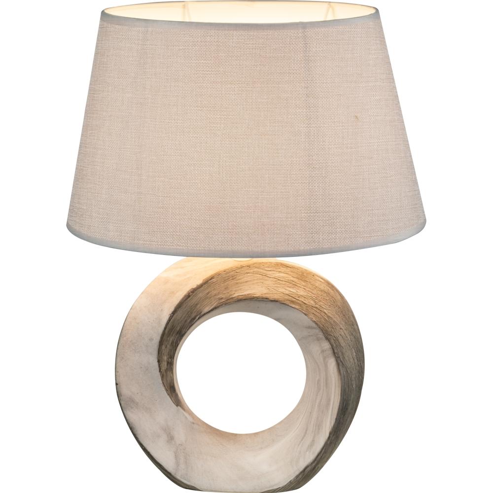 LED tafellamp marmer E27 fitting - vooraanzicht lamp