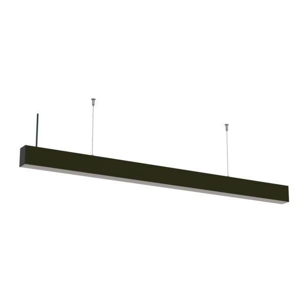 LED linear hangarmatuur 40 watt - zwart - 120cm - 5 jaar garantie - koppelbaar - kantoorlamp
