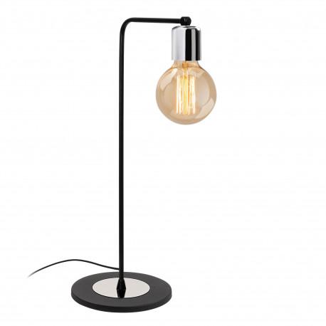 Moderne tafellamp zwart me aluminium E27