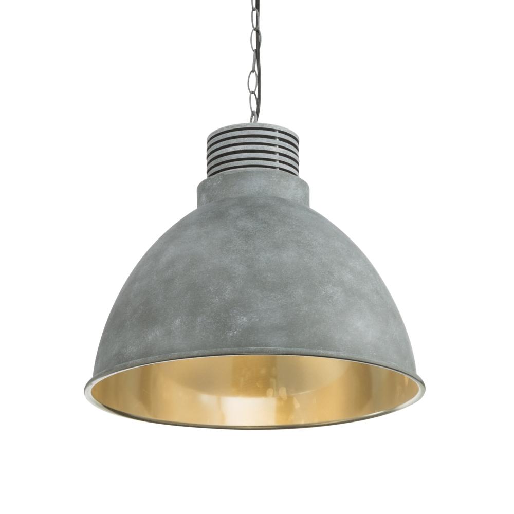 led hanglamp grijs - cementlook E27 fitting - lampenkap