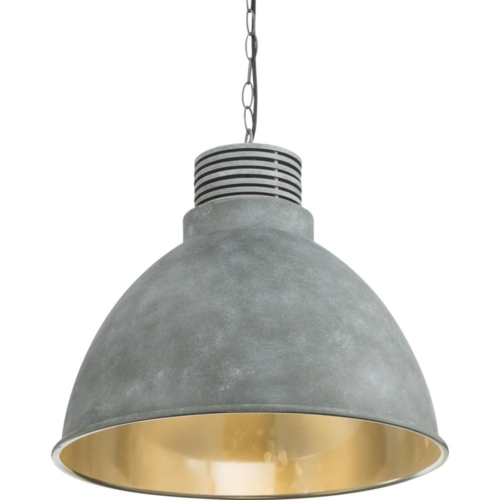 led hanglamp grijs - cementlook E27 fitting - ingezoomd