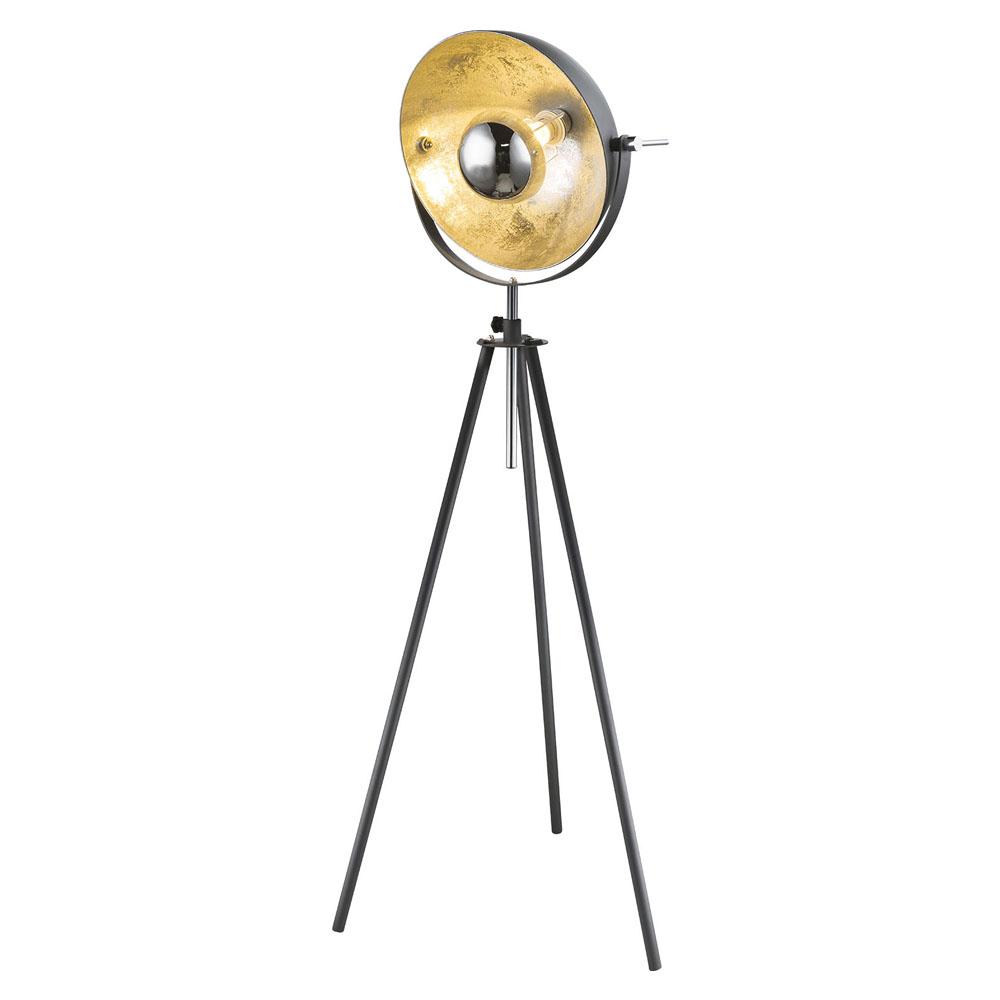Led Moderne vloerlamp metaal zilver grijs - E27 fitting - vooraanzicht lamp