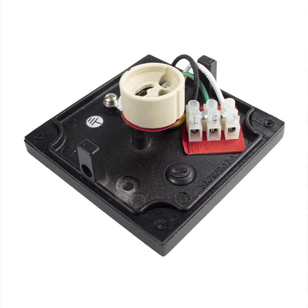 LED plafondlamp spatwaterdicht GU10 fitting zwart - fitting