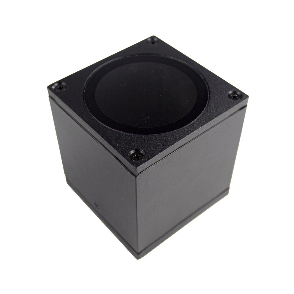 LED plafondlamp spatwaterdicht GU10 fitting zwart - onderkant spot