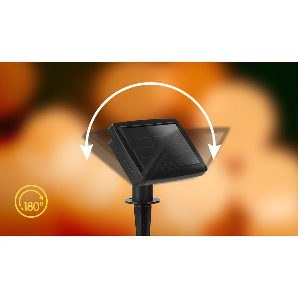 LED prikkabel solar gekleurde lampen 5,8 meter - solar paneel kantelbaar