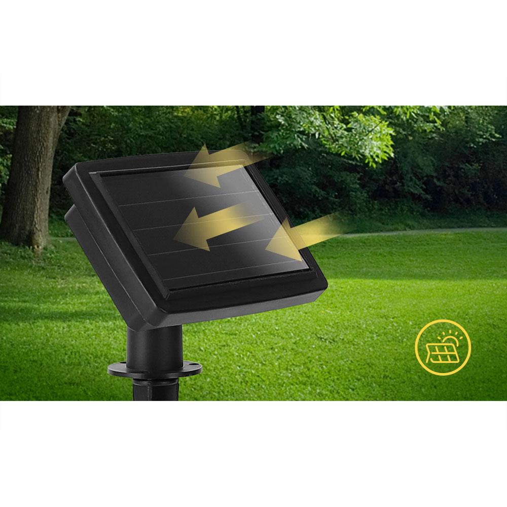 LED prikkabel solar gekleurde lampen 5,8 meter - solar paneel
