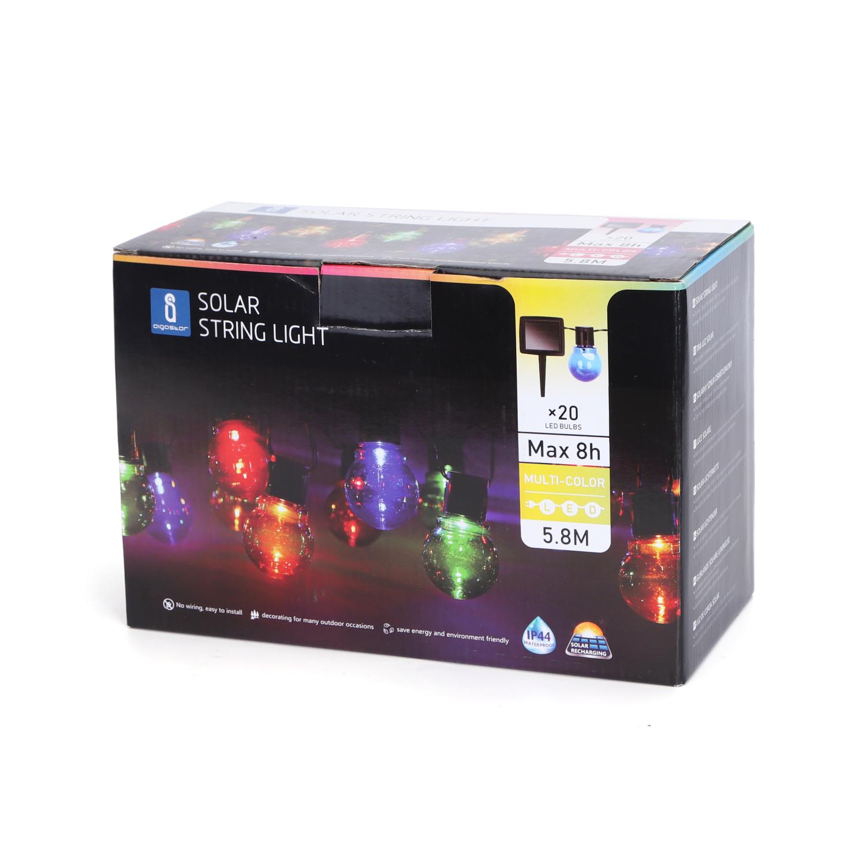 LED prikkabel solar gekleurde lampen 5,8 meter - verpakking