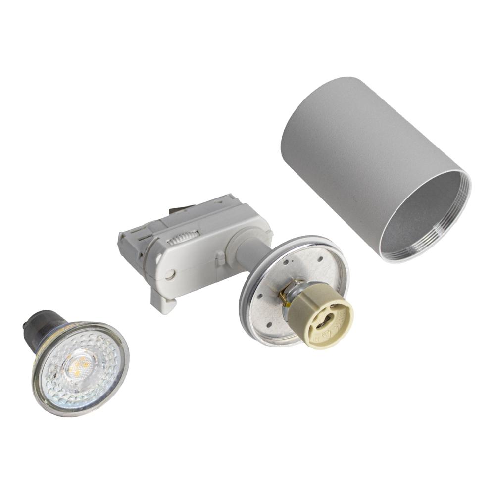 Railspot 3-fase wit incl GU10 fitting - onderdelen