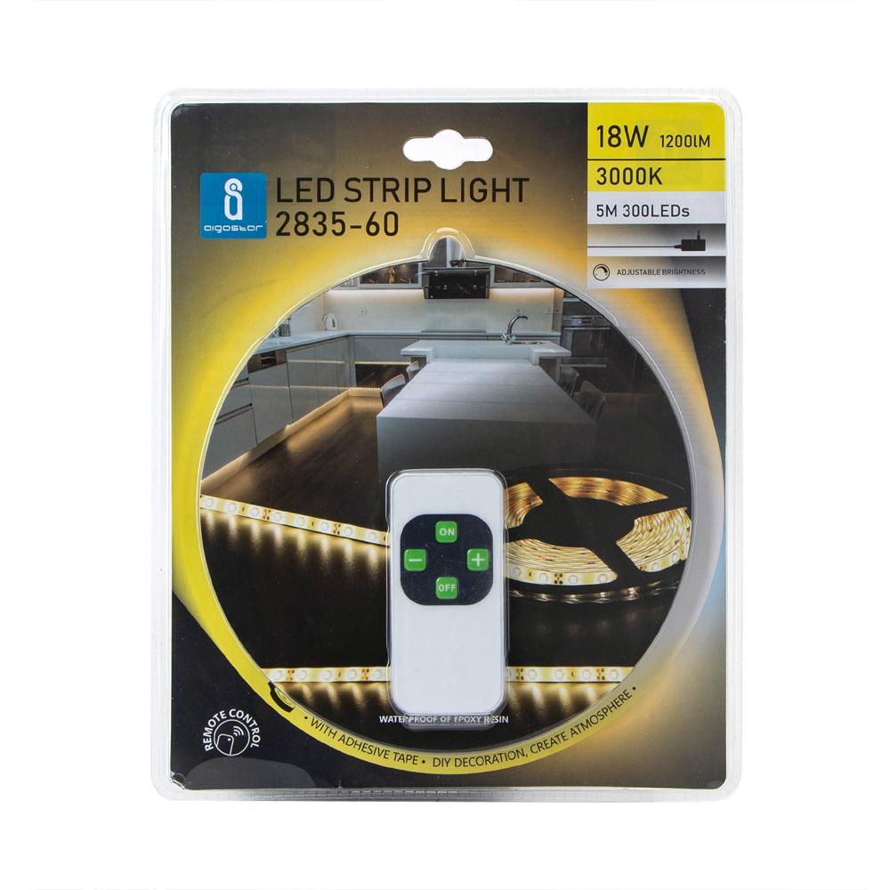 LED strip inclusief afstandsbediening 3000K - warm wit dimbaar - voorkant verpakking