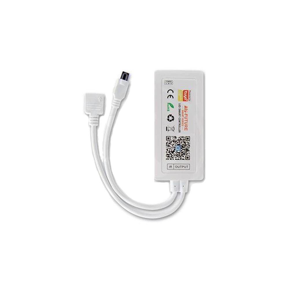 RGB Led strip wifi controller inclusief IR afstandsbediening - ontvanger voorkant
