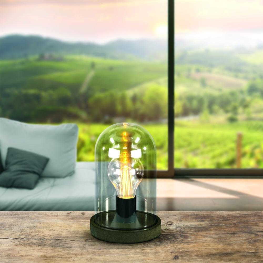 LED tafellamp op batterij - stulpje - glas - sfeerfoto