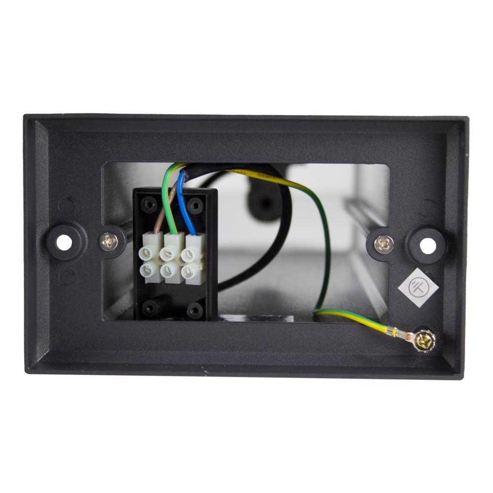 LED tuinpaal - staande buitenlamp - GU10 fitting - 50cm - antraciet - Modern - IP44 waterdichte netstroom aansluiting