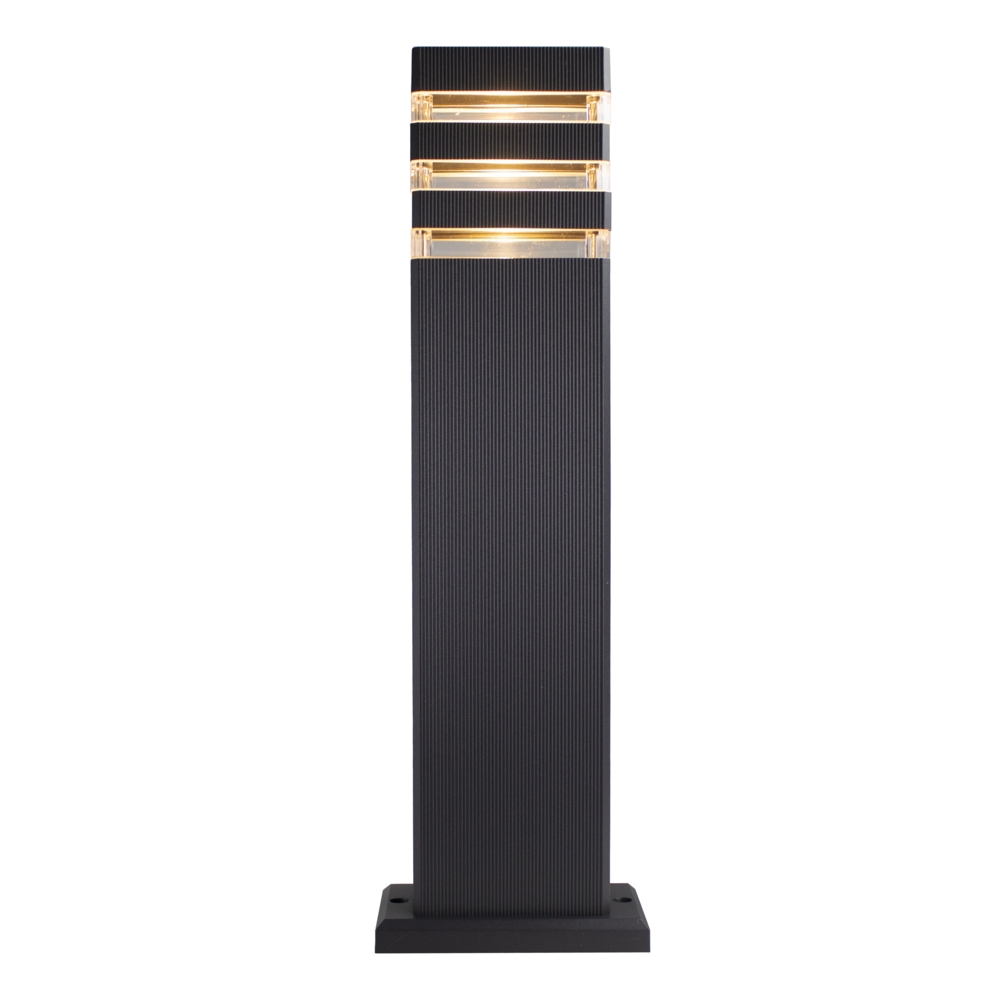 LED tuinpaal - staande buitenlamp - GU10 fitting - 50cm - antraciet - Modern - Warm wit