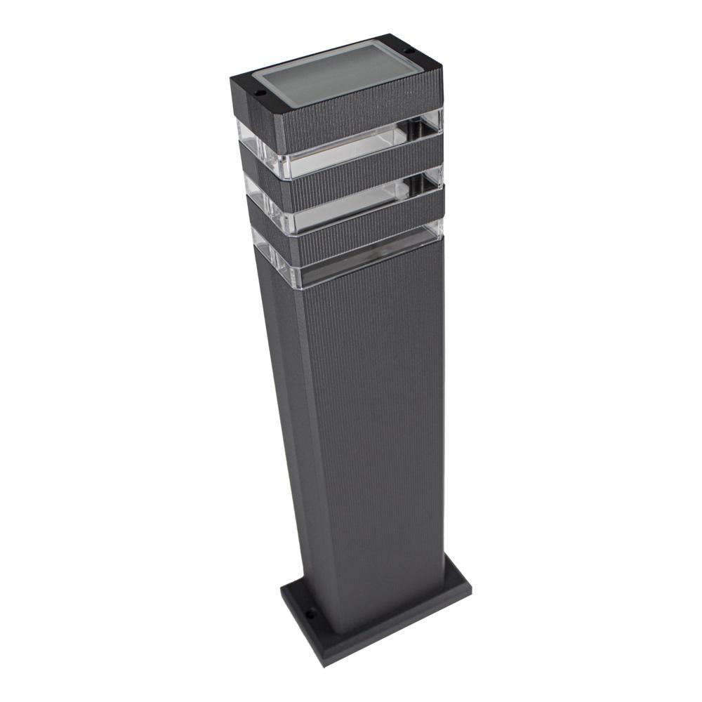 LED tuinpaal - staande buitenlamp - GU10 fitting - 50cm - antraciet - Modern - bovenaanzicht