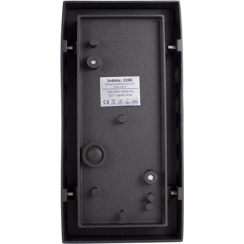 Wandlamp buiten IP54 zwart E27 fitting - achterkant lamp