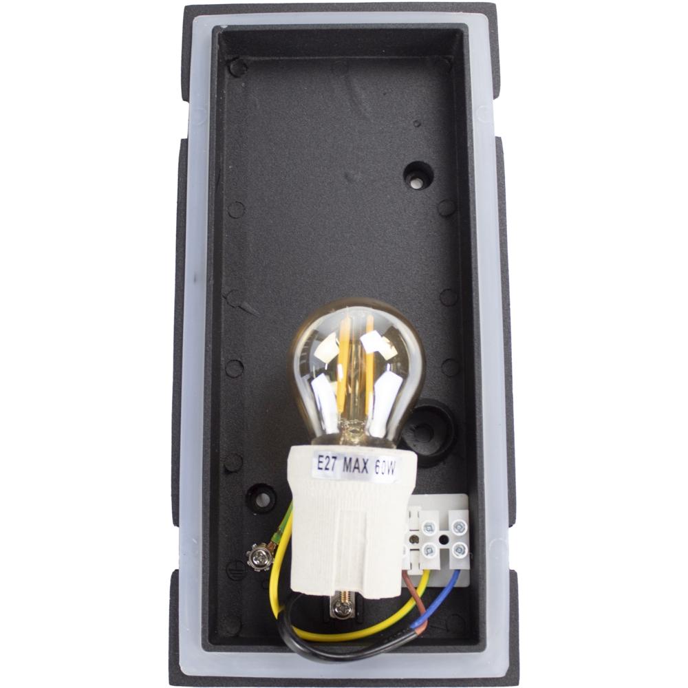Wandlamp buiten IP54 zwart E27 fitting - fitting