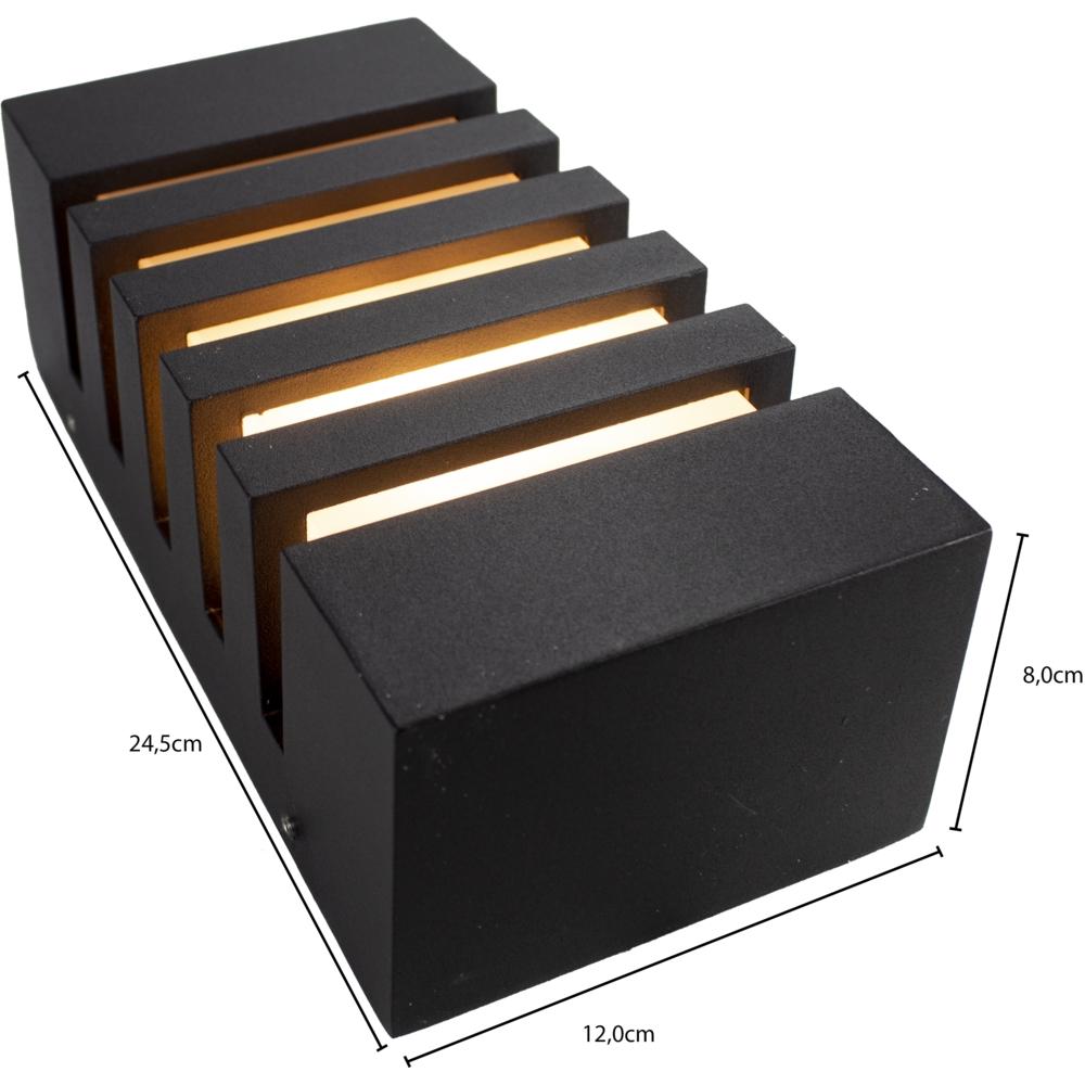 Wandlamp buiten IP54 zwart E27 fitting - afmetingen