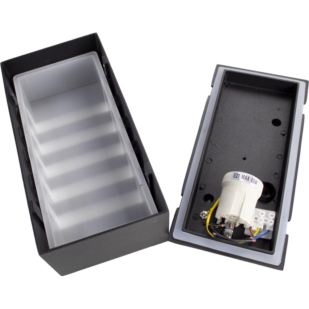 Wandlamp buiten IP54 zwart E27 fitting - onderdelen
