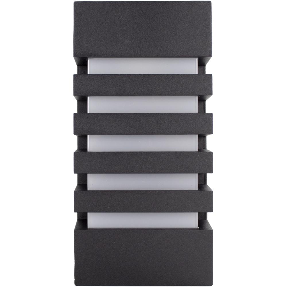 Wandlamp buiten IP54 zwart E27 fitting - vooraanzicht wandlamp uit