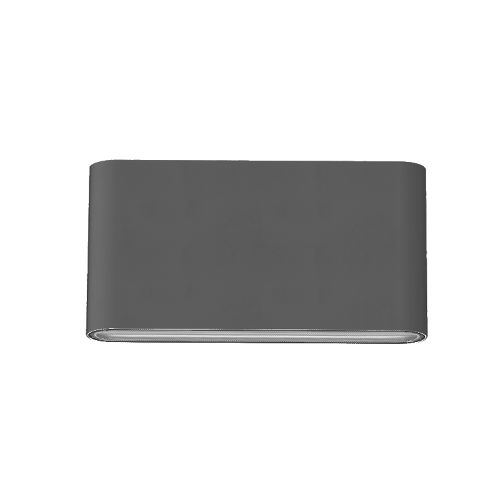 LED wandlamp grijs 6 Watt CCT instelbaar IP65 - vooraanzicht recht