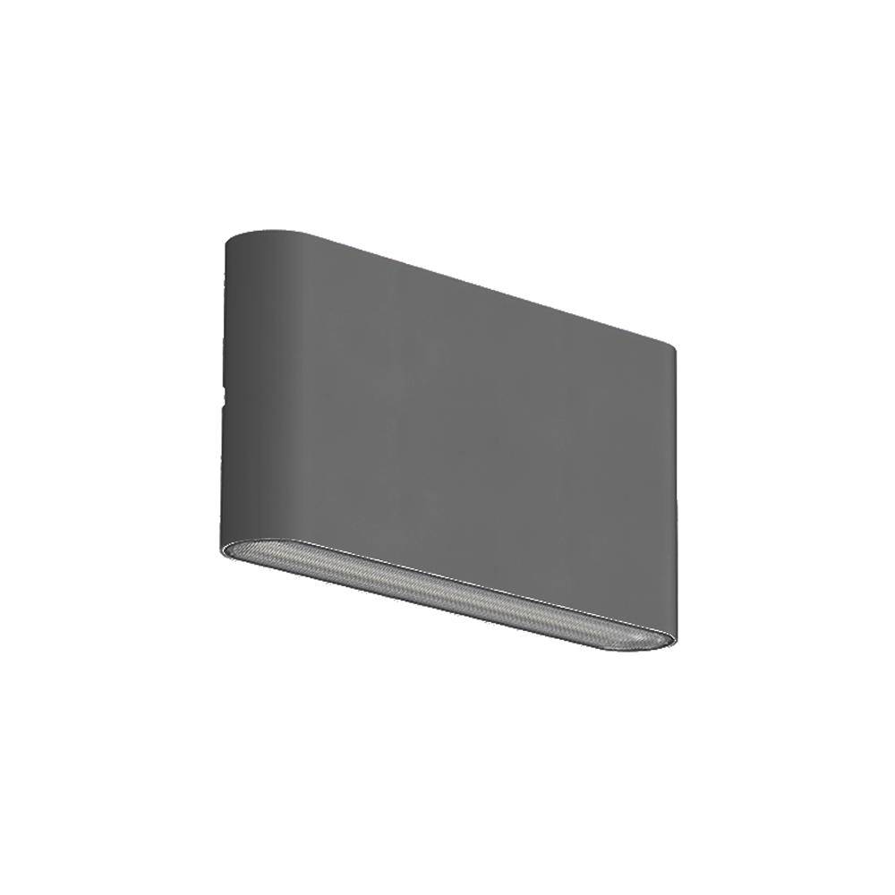 LED wandlamp grijs buiten CCT en dimbaar -zijaanzicht