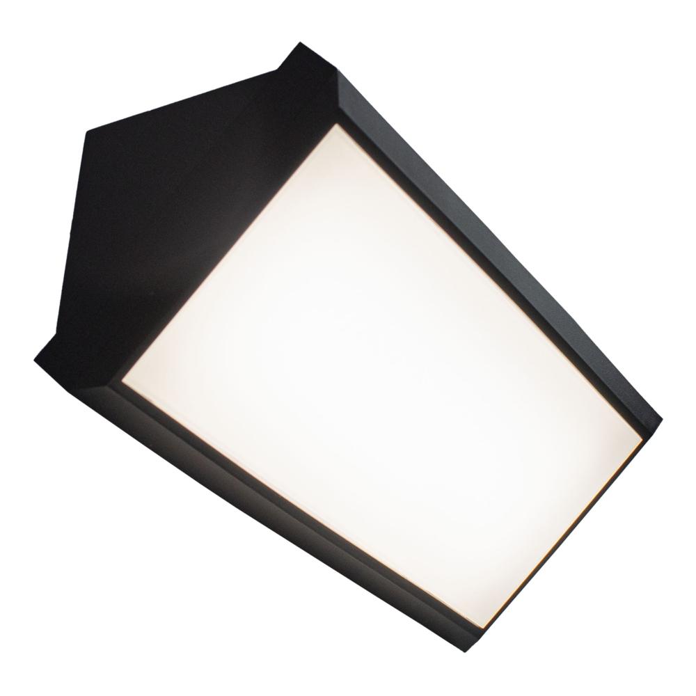 Wandlamp LED 12 Watt IP65 4000K - naturel wit - lamp aan