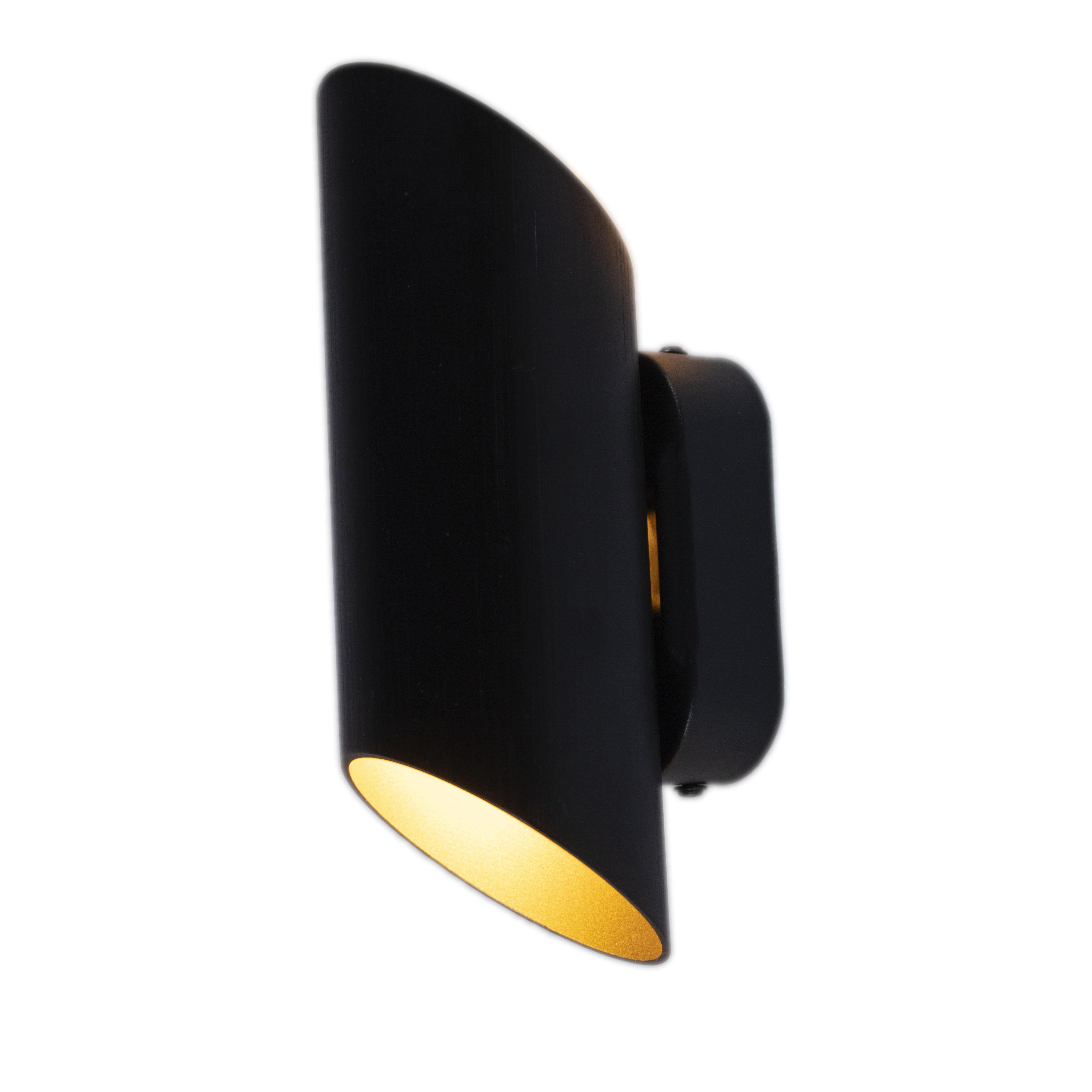 LED Wandlamp - rond - zwart - G9 fitting - vooraanzicht - dimbaar