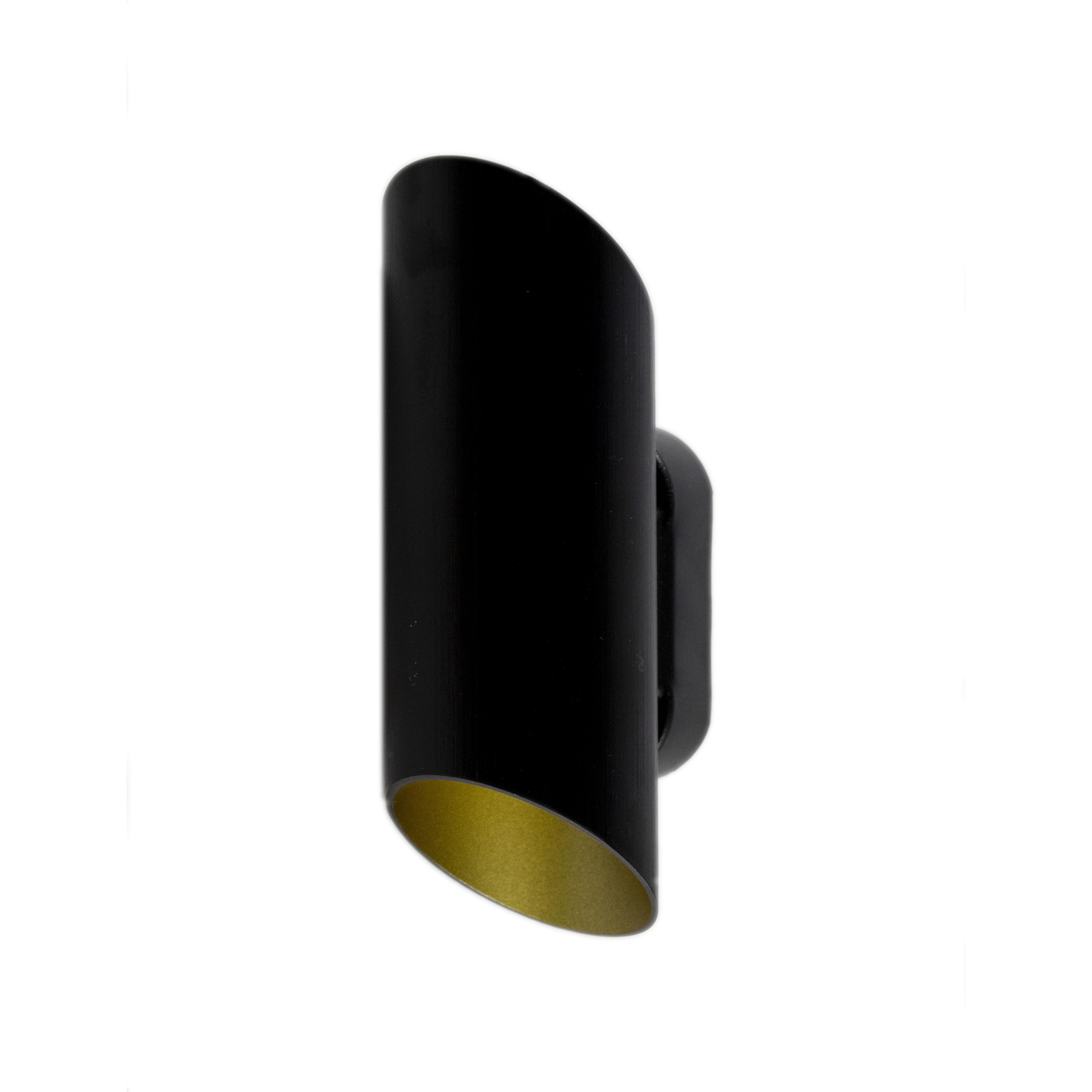 Wandlamp Led Rond zwart goud G9 fitting - lamp uit