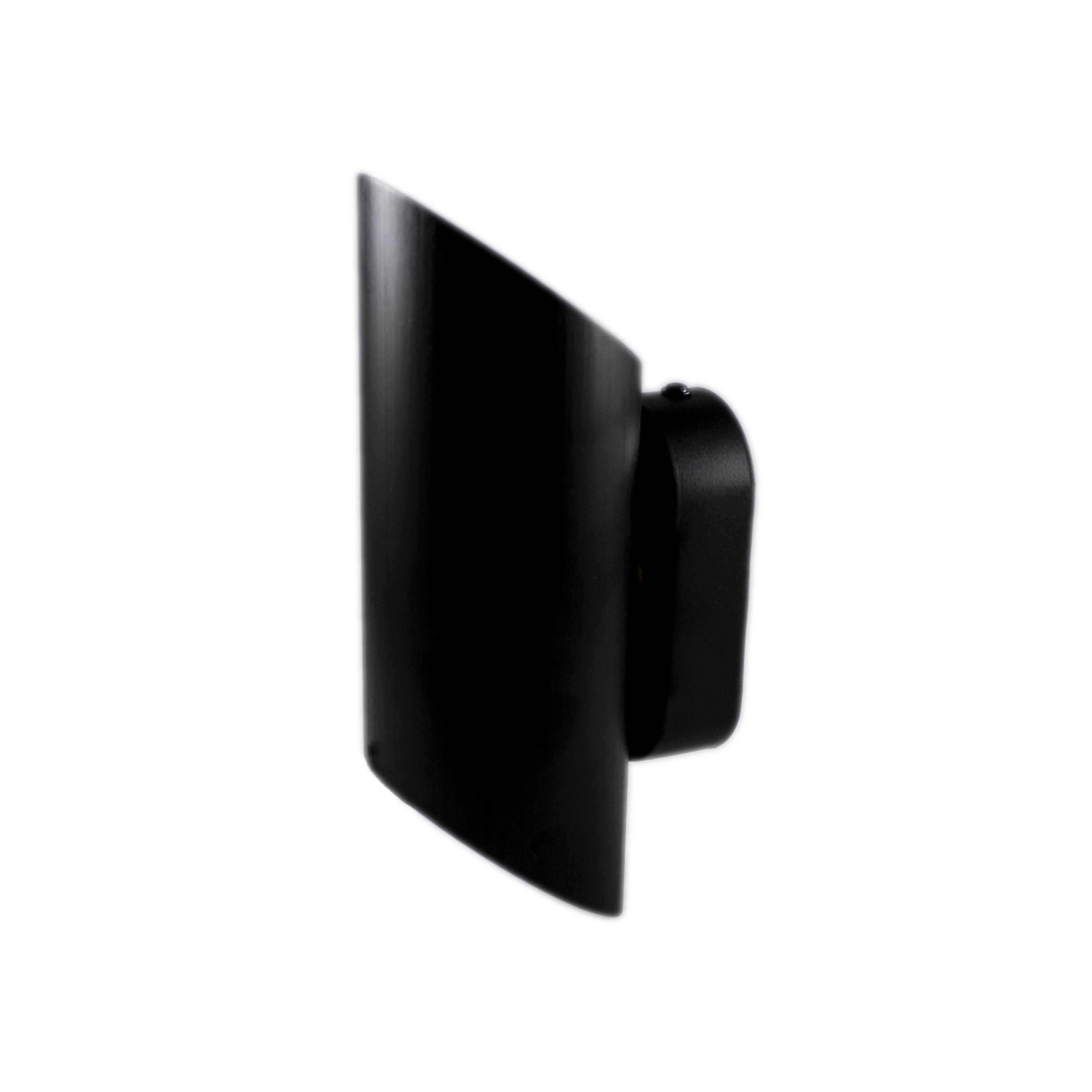 LED Wandlamp zwart - rond - up & down - G9 fitting - zijaanzicht wandlamp