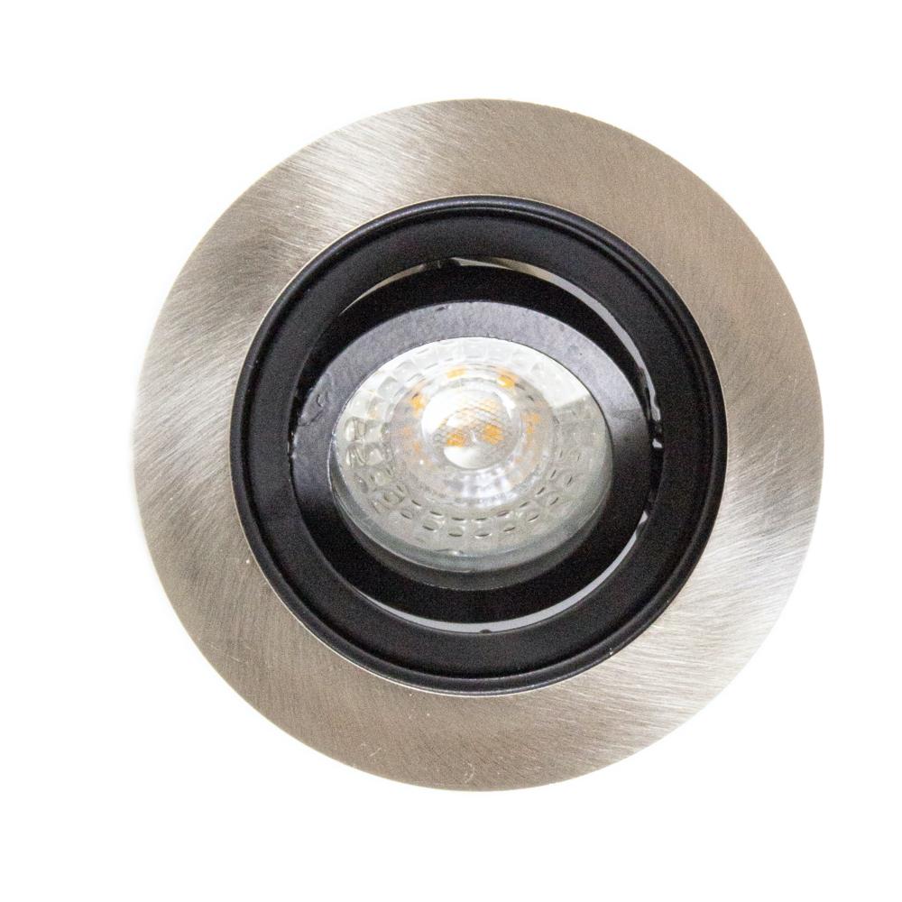 Inbouwspot LED Zwart rond aluminium 12 Volt dimbaar - 2700K Warm wit - armatuur uit