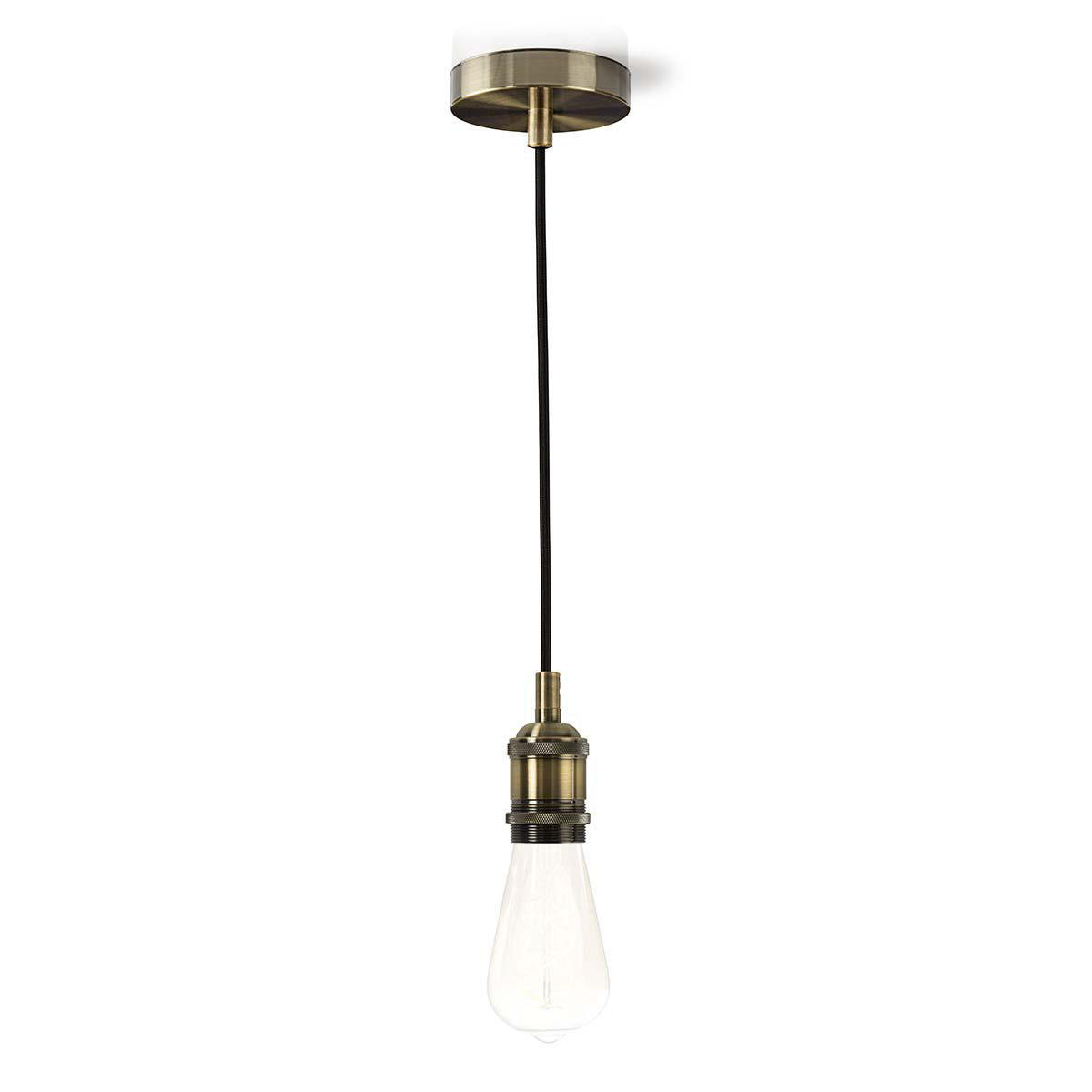 Lamphouder E27 fitting - klassiek - messing - goud - pendeladapter