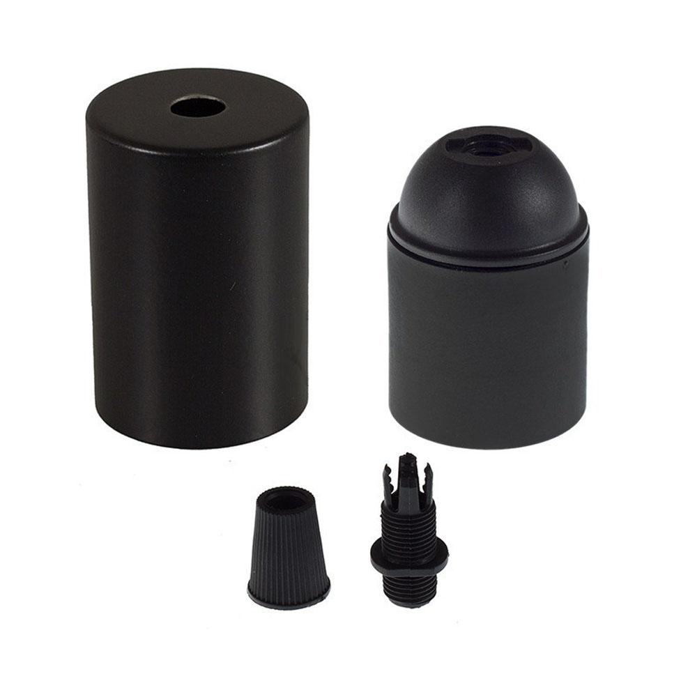 Lamphouder zwart E27 fitting -onderdelen