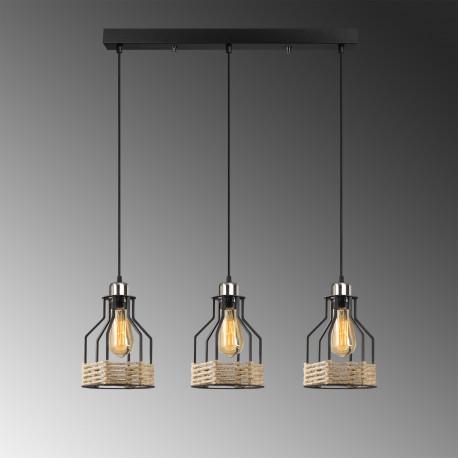 Hanglamp met landelijke stijl met touw