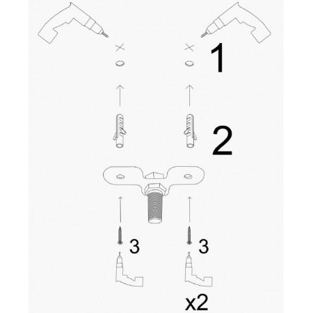 Landelijke hanglamp metaal zwart 3x E27 fitting installatie