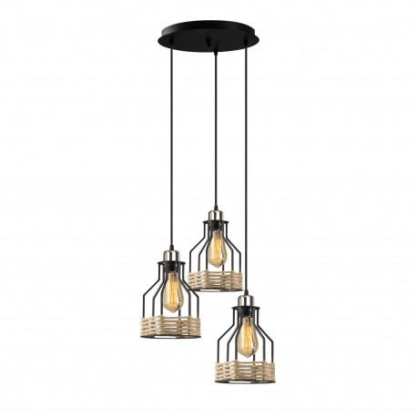 metalen hanglamp landelijk met touw