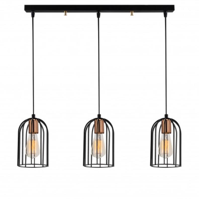 fles vorm hanglamp van metaal en bronze E27 fitting