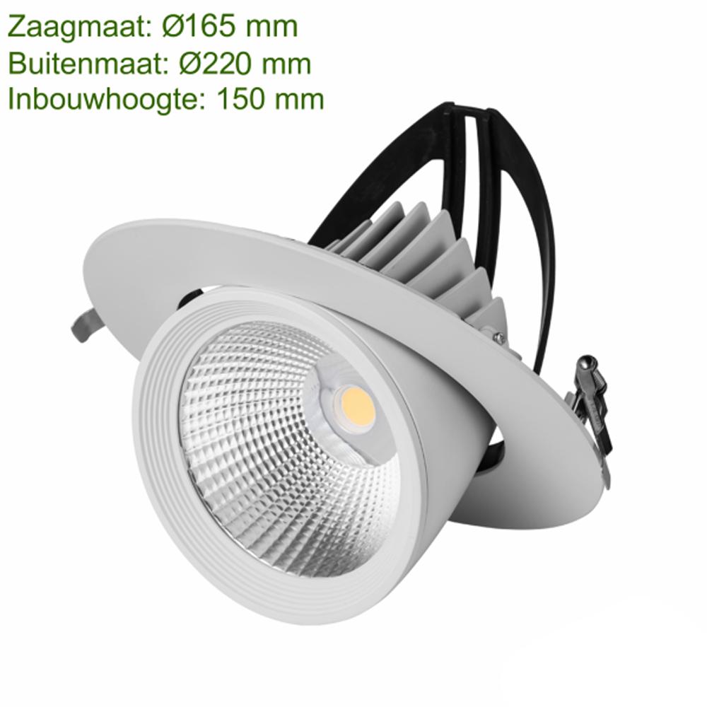 LED downlight inbouw - afmetingen
