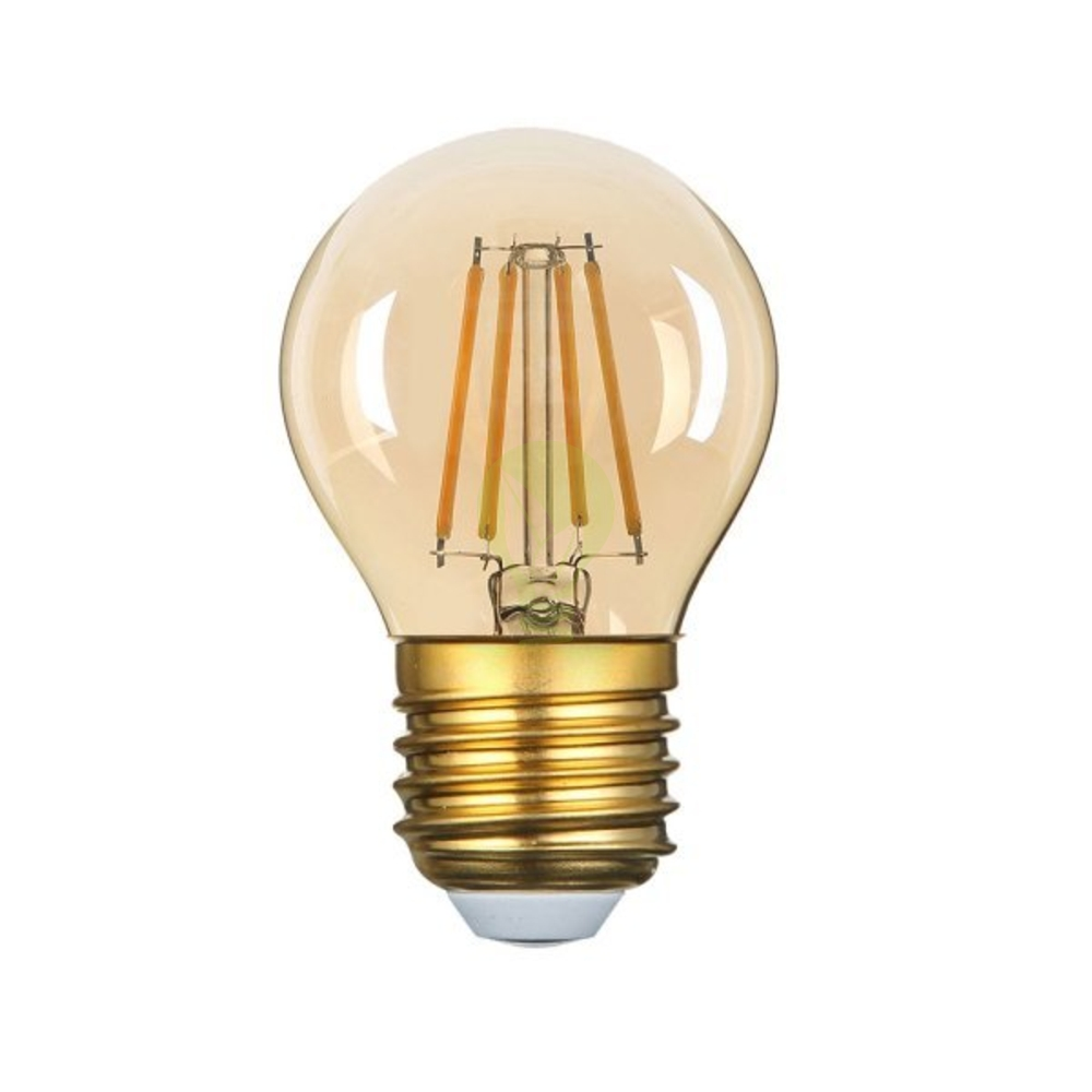 LED dimbare filament lamp amber glas 4 Watt G45 2500K Warm wit - dimbaar