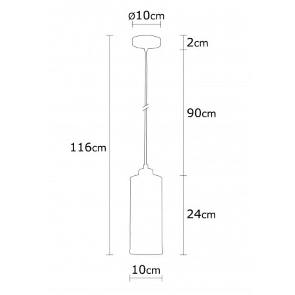 Hanglamp modern zwart - Afmetingen