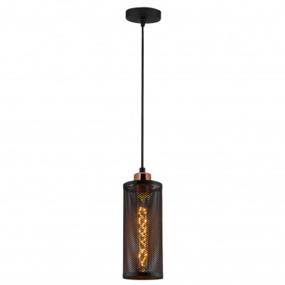 Hanglamp modern zwart - vooraanzicht lamp aan