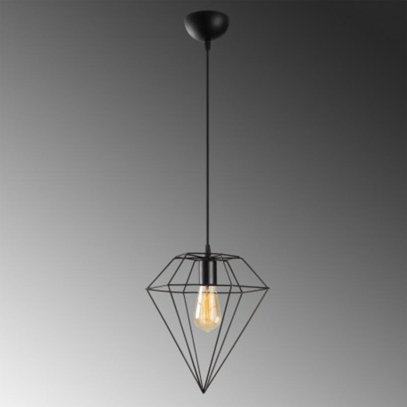 led metalen hanglamp diamond E27 fitting