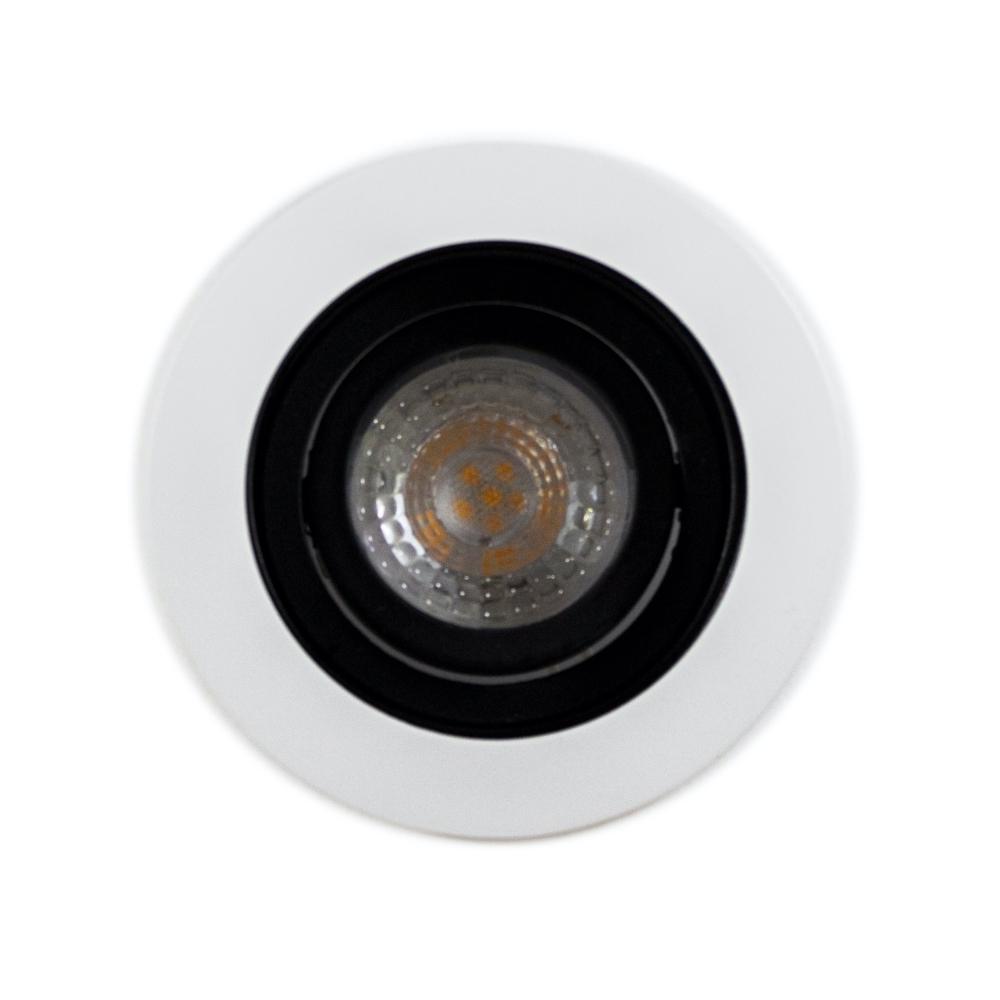 Ronde inbouwspot wit dimbaar 12 Volt 5,5 Watt 2700K Warm wit - spot uit