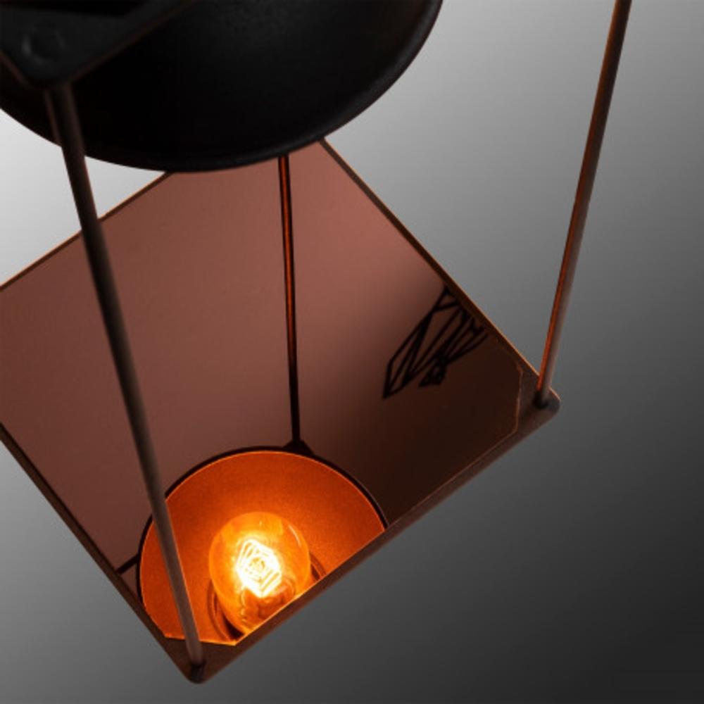 Tafellamp Led Zwart koper E27 fitting - voet lamp