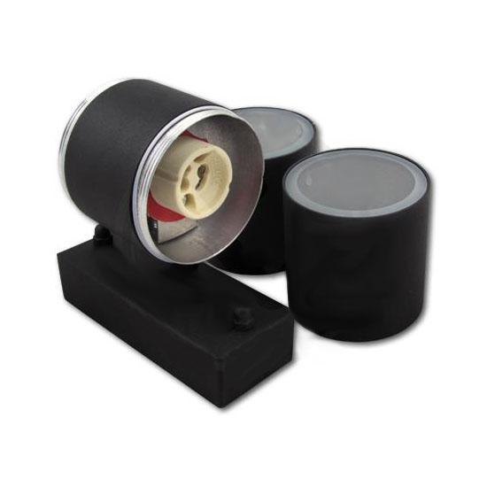 Wandlamp zwart 2 keer GU10 fitting - GU10 fittingen