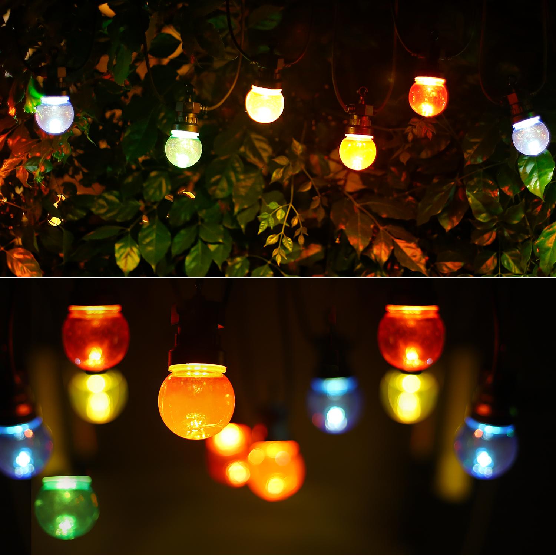Lichtslinger - lichtsnoer - feestverlichting - prikkabel met gekleurde lampen - incl. 10x LED lampen - 8 meter - sfeerfoto
