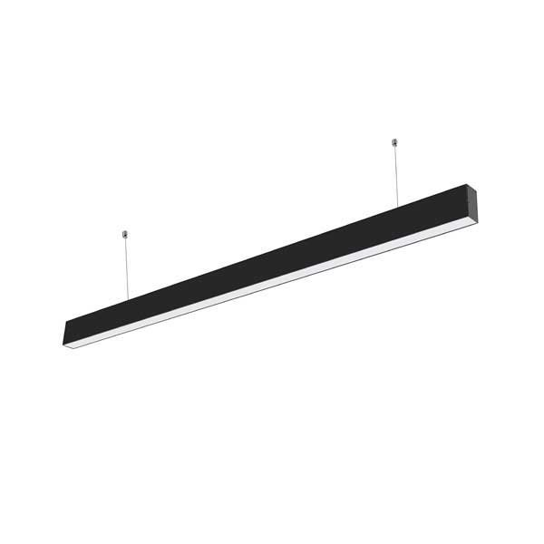 Linear hangarmatuur - kantoorlamp - 40 watt - zwart - 120cm - 4000K