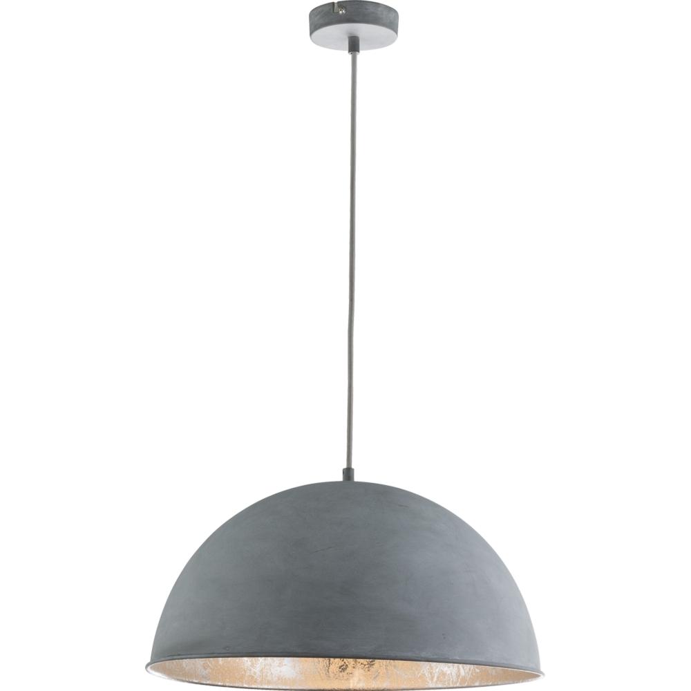 Masqat-Industriële hanglamp-cementlook-E27 fitting- vooraanzicht